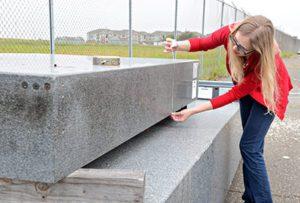 рязане на дебел бетон